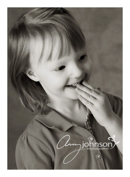 Laughing girl portrait in Evergreen Colorado