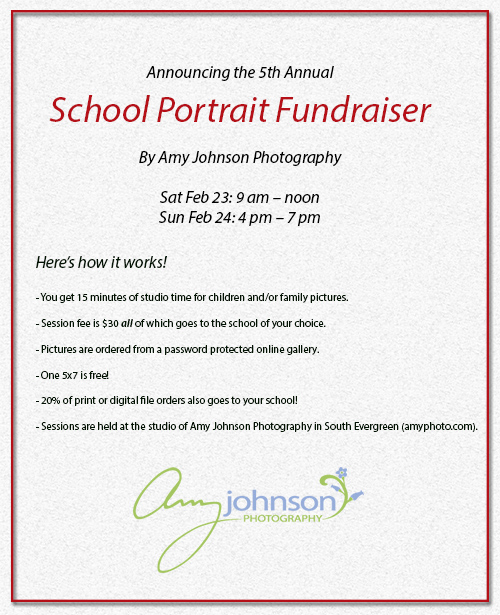 5th Annual School Portrait Fundraiser