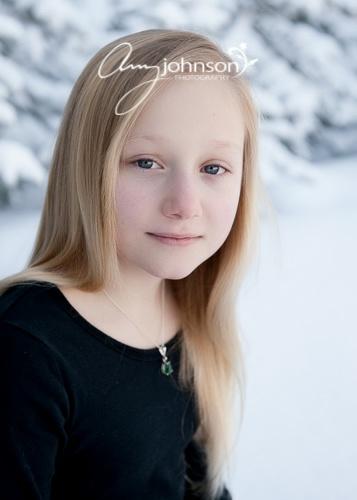 Evergreen snow portraits