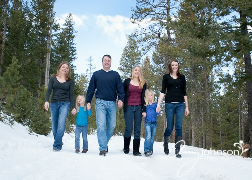 Evergreen family portraits