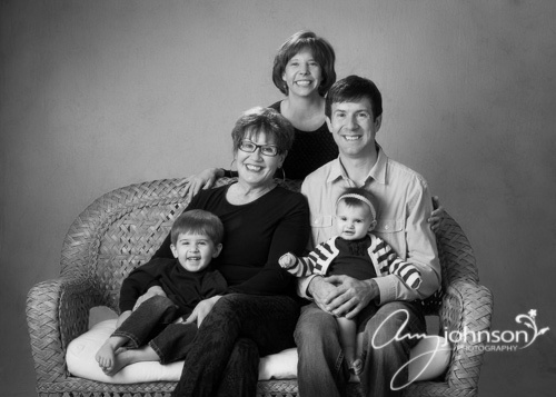 Evergreen family studio portraits