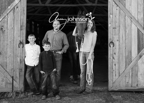 Evergreen family horse photographer